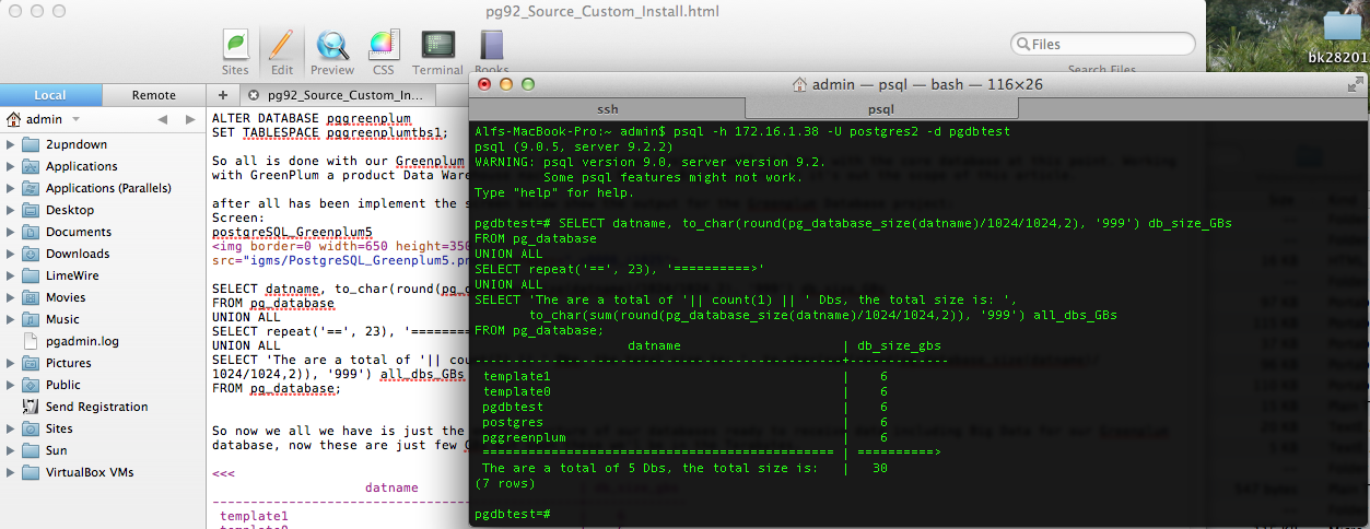 Custom Install Implementation PostgreSQL for Greenplum from
